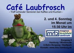 Postkarte Cafe Laubfrosch Vorderseite
